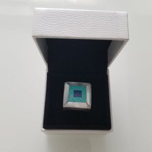 Sterling Silver Square Turquoise Ring
